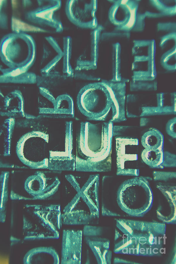 Clue Photograph - Mystery Writer Clue by Jorgo Photography - Wall Art Gallery