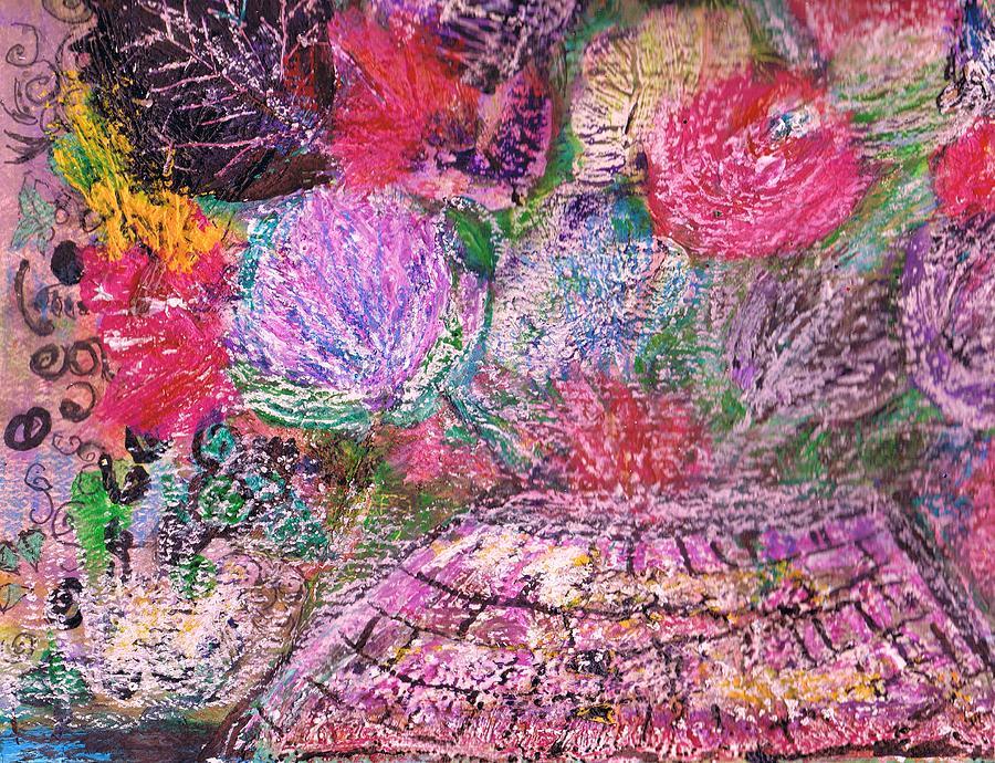 Bouquet Painting - Mystic Bouquet  by Anne-Elizabeth Whiteway