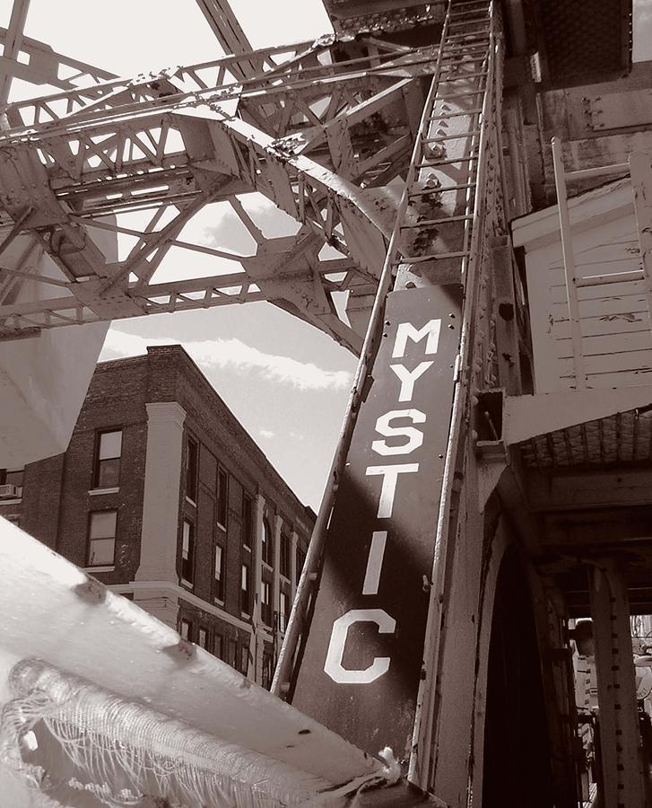 Mystic Photograph - Mystic Drawbridge by Heather Weikel