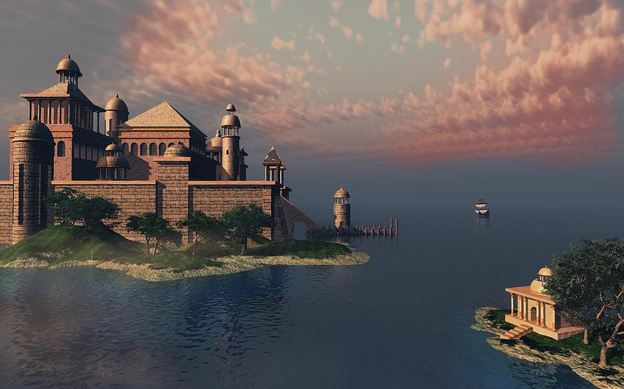 Mystic Fantasy Town Digital Art