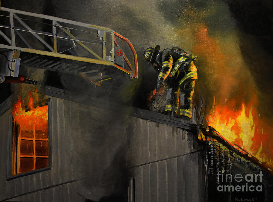 Firefighting Painting - Mystic Fire by Paul Walsh