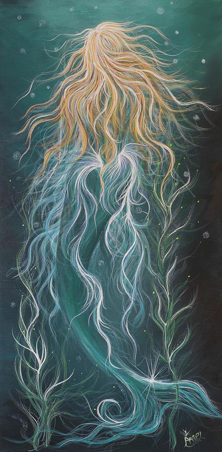 Mermaid Painting - Mystic Mermaid by Angel Fritz