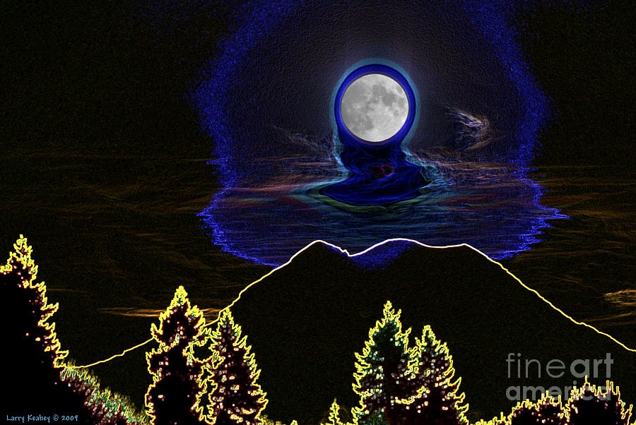 Washington Photograph - Mystic Moon by Larry Keahey