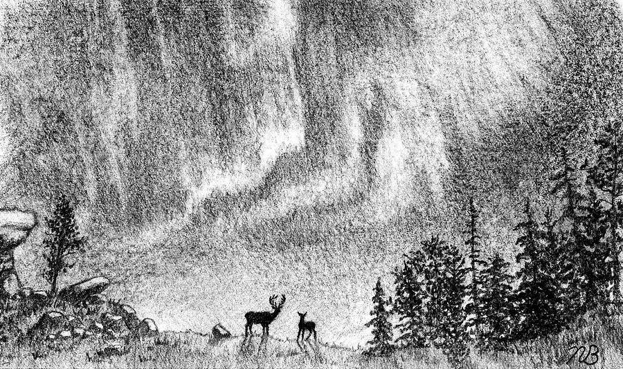 Mystic Ripple Drawing By Nils Bifano