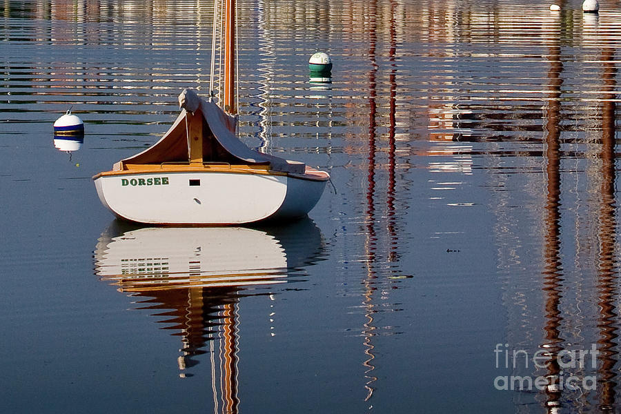 Boat Photograph - Mystic River by Susan Cole Kelly