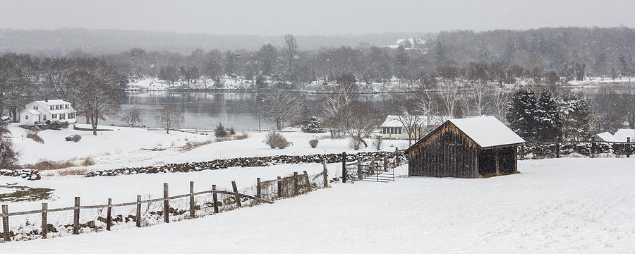 Landscape Photograph - Mystic River Winter Landscape by Kirkodd Photography Of New England