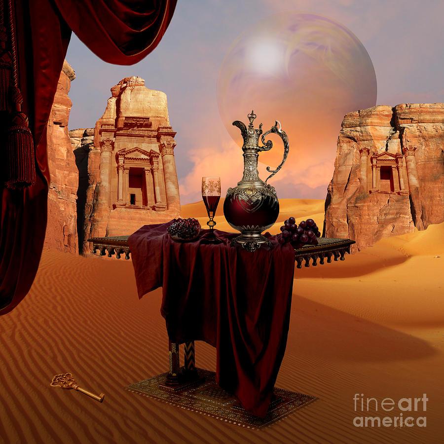 Mystic ruins in desert by Alexa Szlavics
