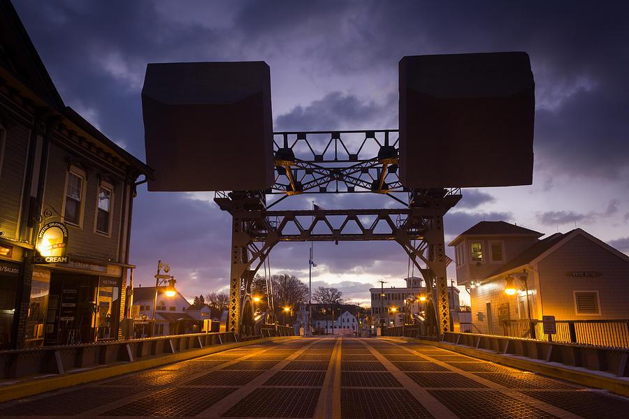 Mystic Photograph - Mystic Sky Bridge by Kirkodd Photography Of New England