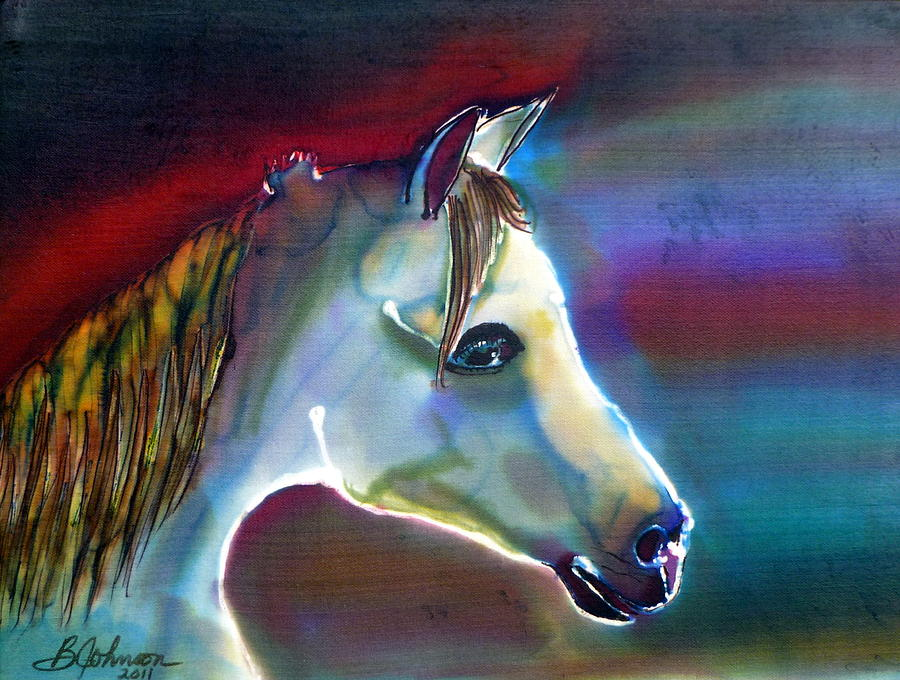 Horse Painting - Mystical by Beverly Johnson