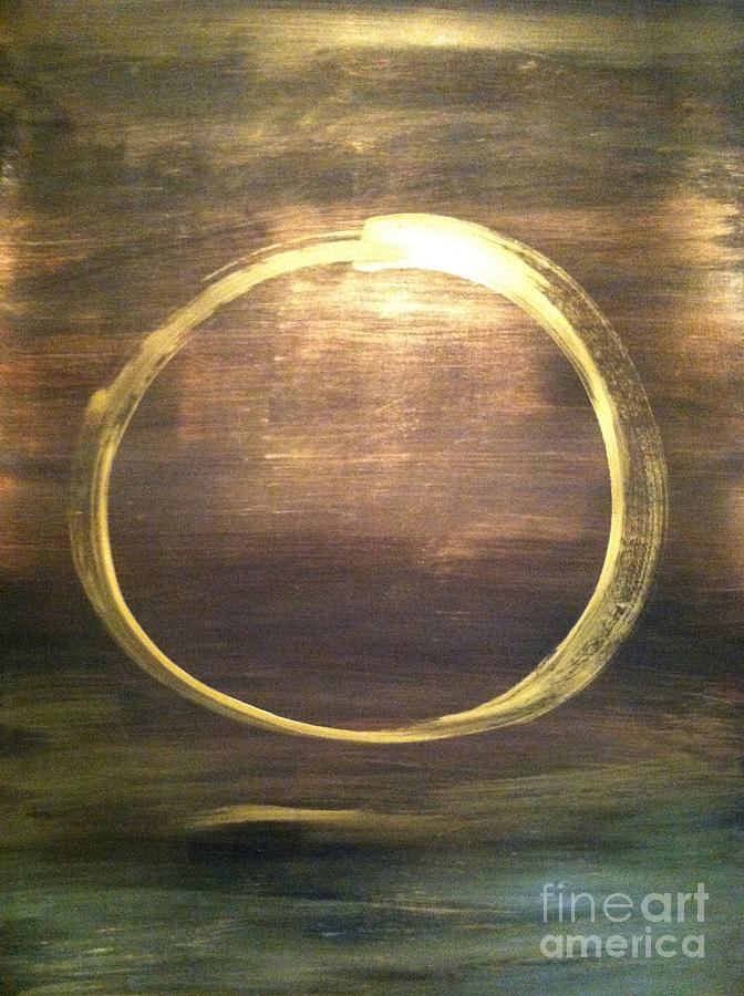 Enso Painting - Mystical Enso by Uldra Patty Johnson