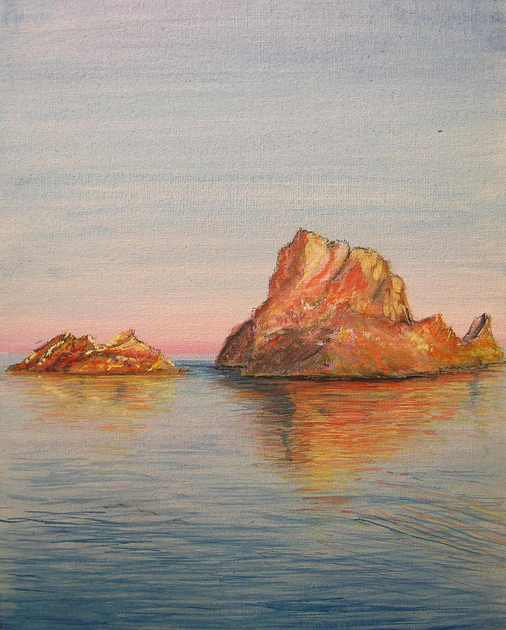 Island Painting - Mystical Island Es Vedra by Lizzy Forrester
