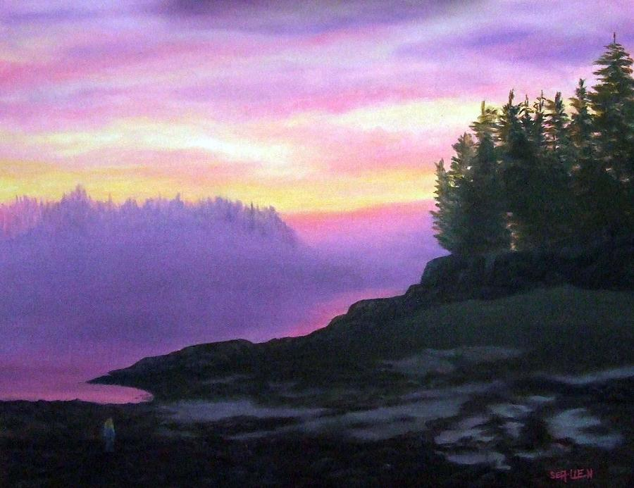Sunset Painting - Mystical Sunset by Sharon E Allen