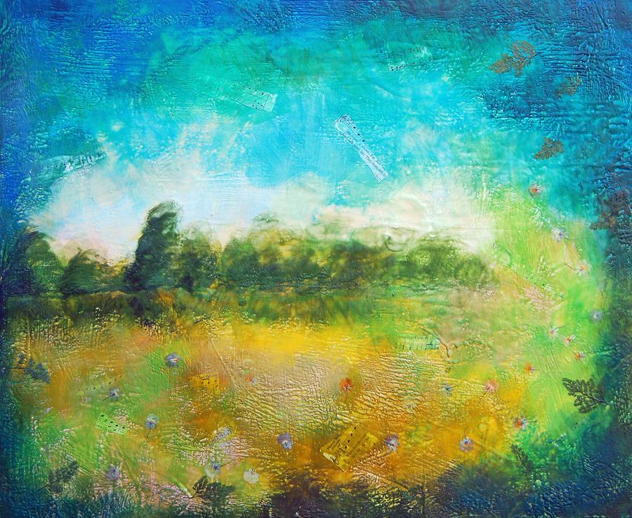 Mystical Trees Painting by Joya Paul