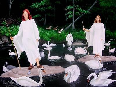 Mystics Painting by Reggie Simpson