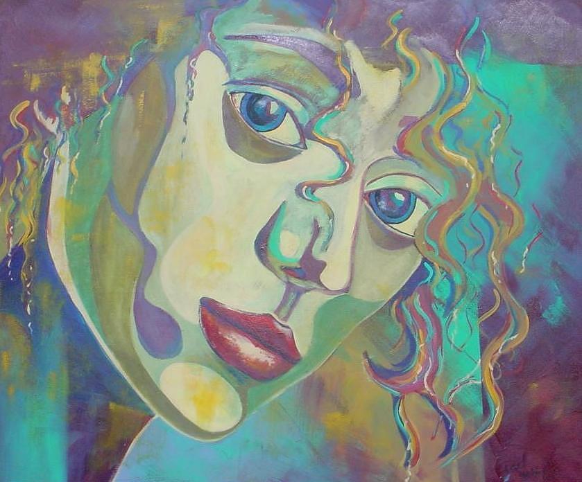 Women Painting - Mystique by Estelle St-Pierre