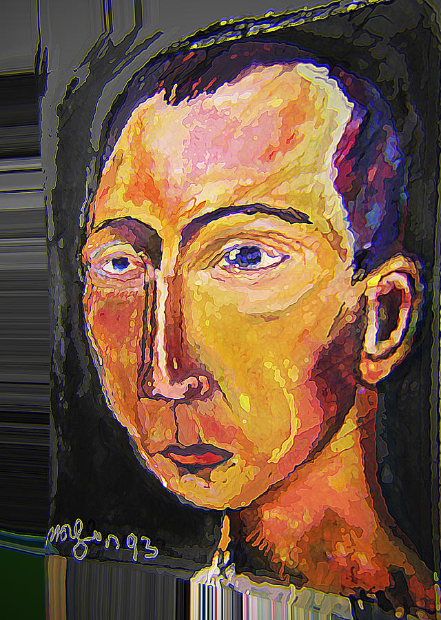 Self Portrait Painting - Myth by noredin Morgan