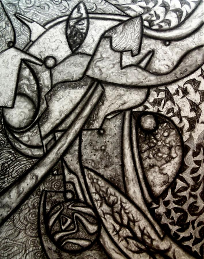 Abstract Drawing - Myth by Terry Jackson