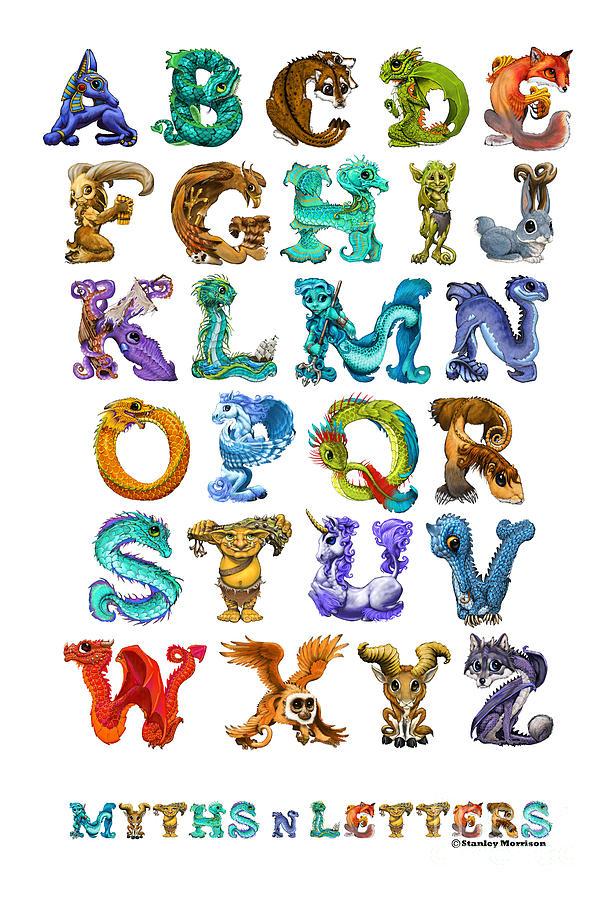 Myths N Letters Digital Art By Stanley Morrison