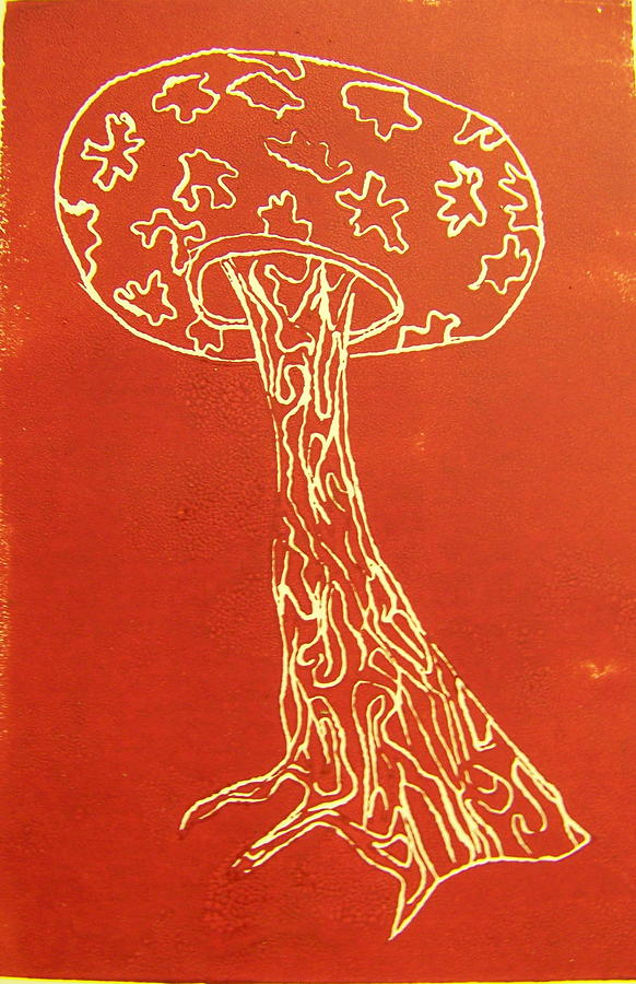 Organic Painting - Myxomycetes 4 by Angela Dickerson
