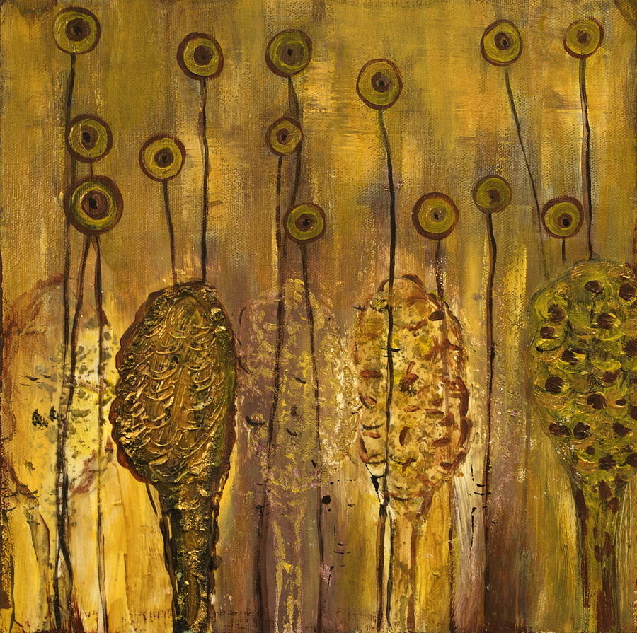 Organic Painting - Myxomycetes by Angela Dickerson