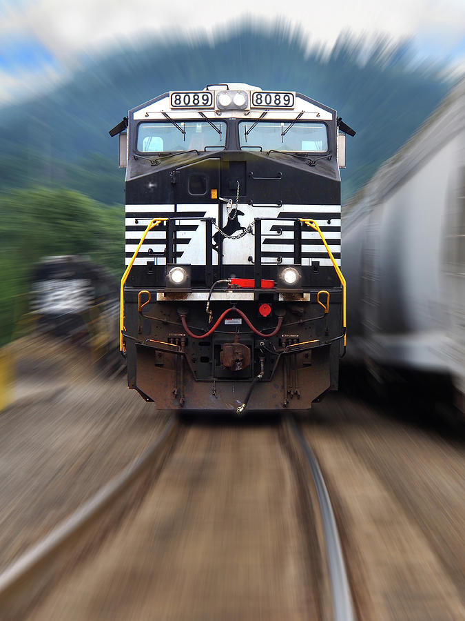 Railroad Photograph - N S 8089 On The Move by Mike McGlothlen