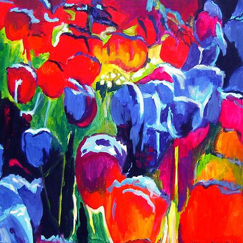 Tulips Painting - N181 Tulips 10 by Connie Van Winssen
