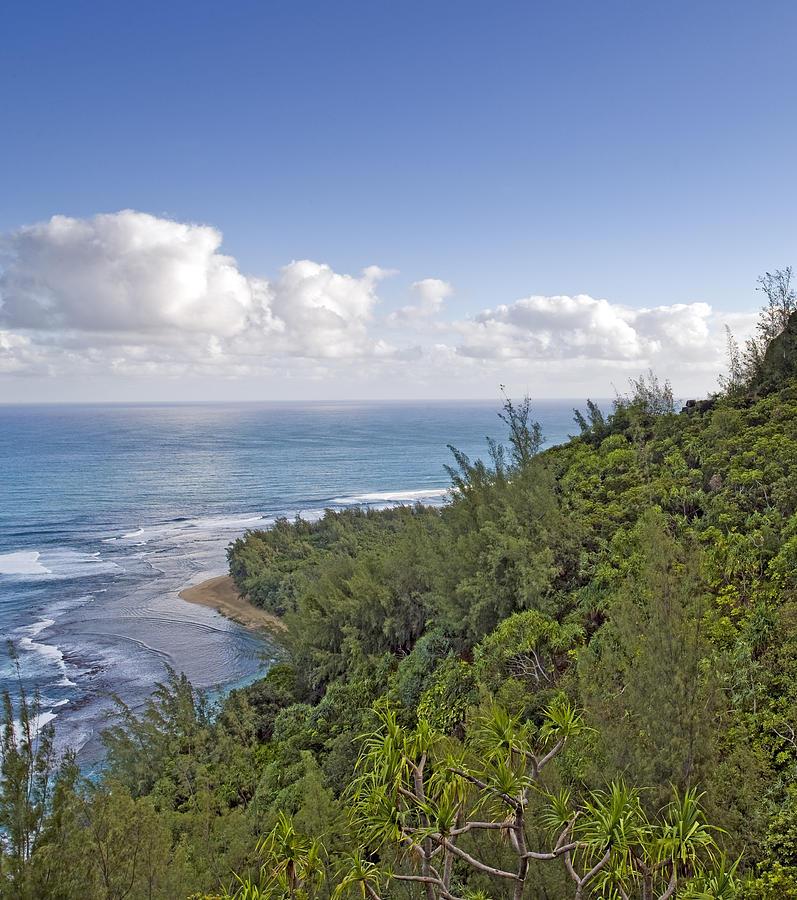 Tropical Photograph - Na Pali Coast From The Kalalau Trail On Kauai Hawaii by Brendan Reals