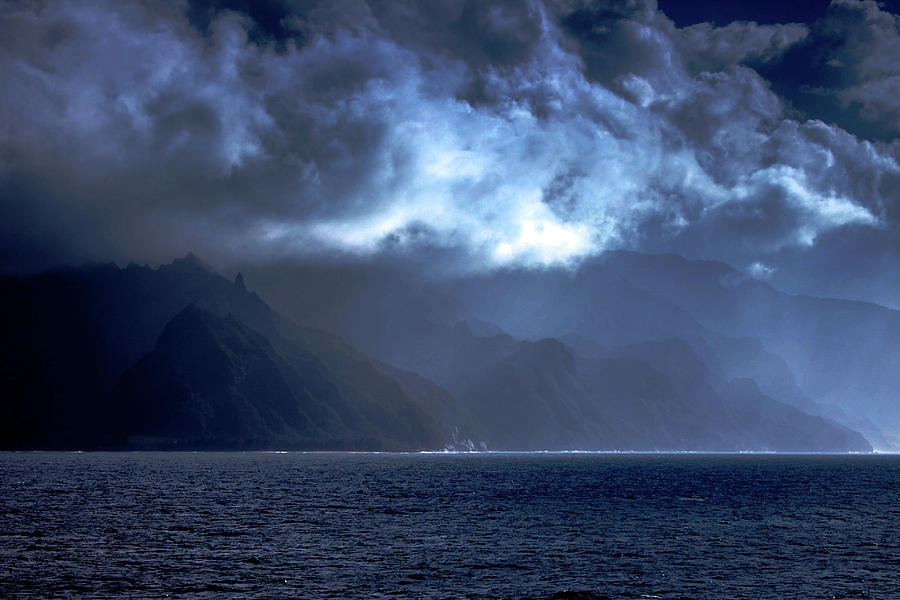 Na Pali Photograph - Na Pali Coast in the Moonlight by Dan Pearce