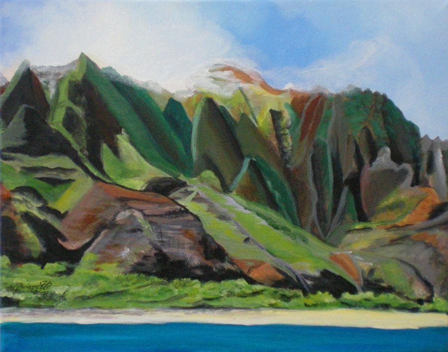 Na Pali Coast Painting - Na Pali Cruise by Marionette Taboniar