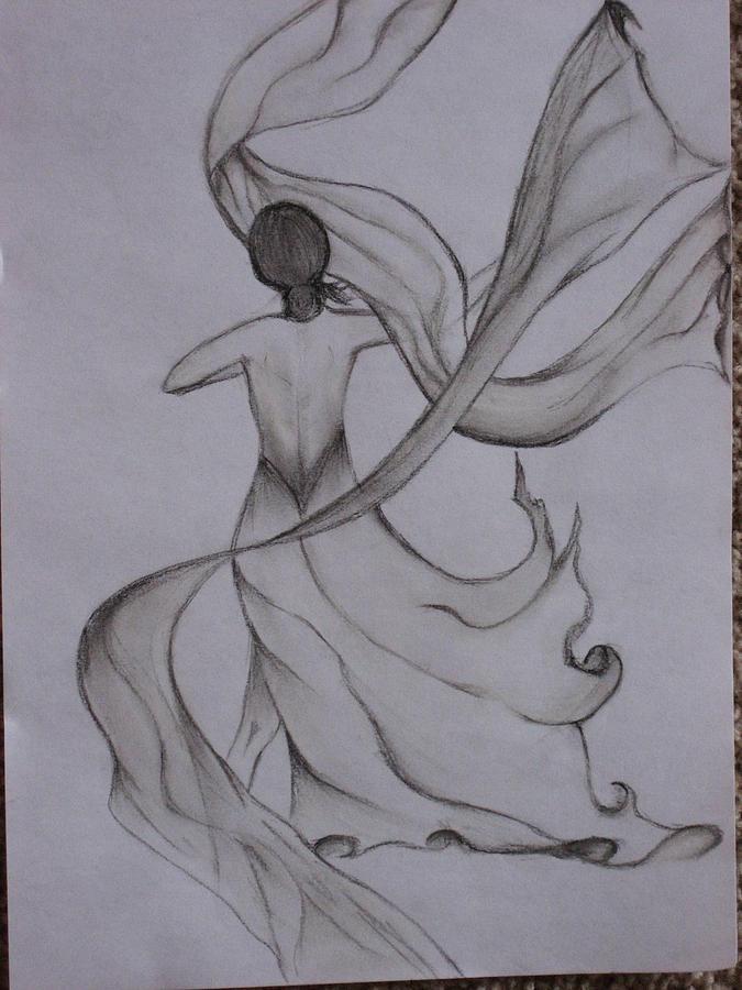 Wind Drawing - Naach Dance by Alokananda Ghosh