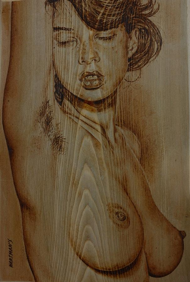 Drawing of a naked girl angel