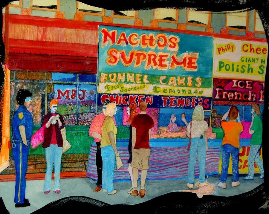 Food Painting - Nachos Supreme by Lee M Plate
