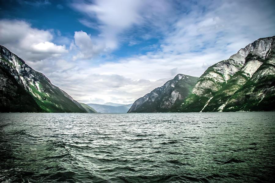 Tour Photograph - Naeroyfjord by KG Thienemann