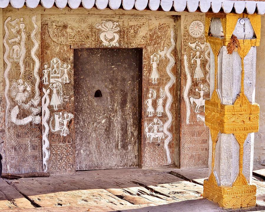 Temple Photograph - Nag Temple Doorway - Huri India by Kim Bemis