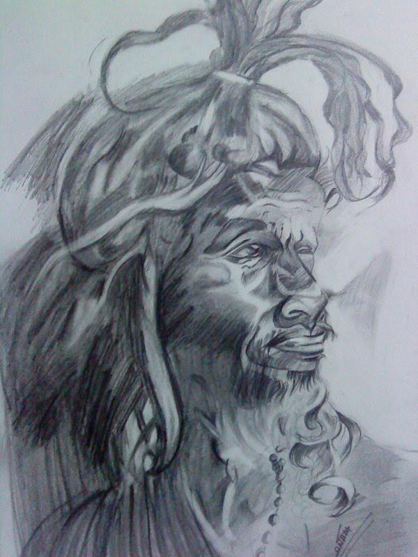 Naga Baba Painting - Naga Baba by Sonam Shine