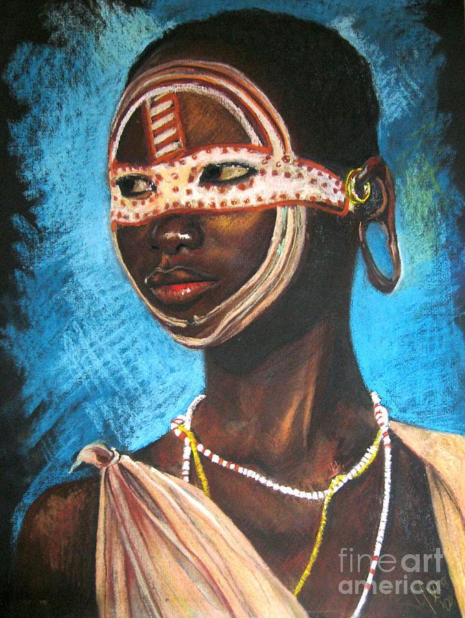 Pastels Drawing - Nairobi Girl by Yxia Olivares