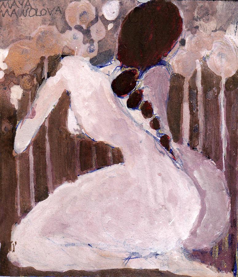 Woman Painting - Naked Dream by Maya Manolova
