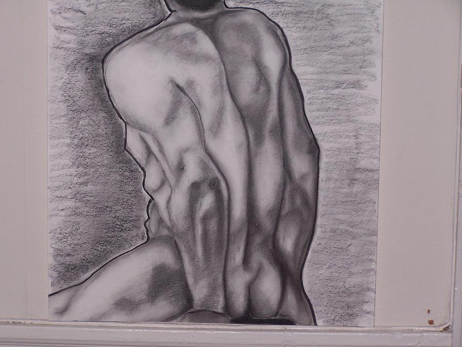 Nude Male Nude Ink Drawing Nude Print Male Nude Sketch
