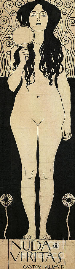 Truth Drawing - Naked Truth by Gustav Klimt