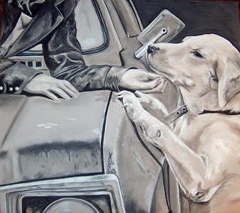 Dog Drawing - Nala by Tiffany Everett
