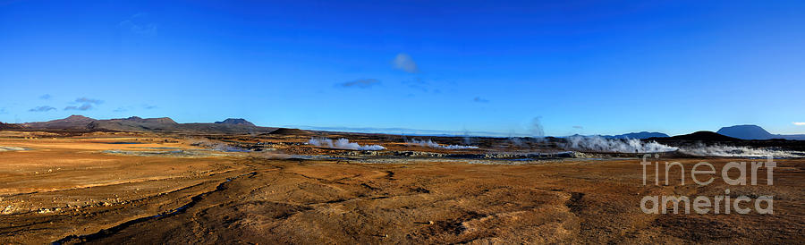 Namafjall Geothermal Iceland Panorama Photograph