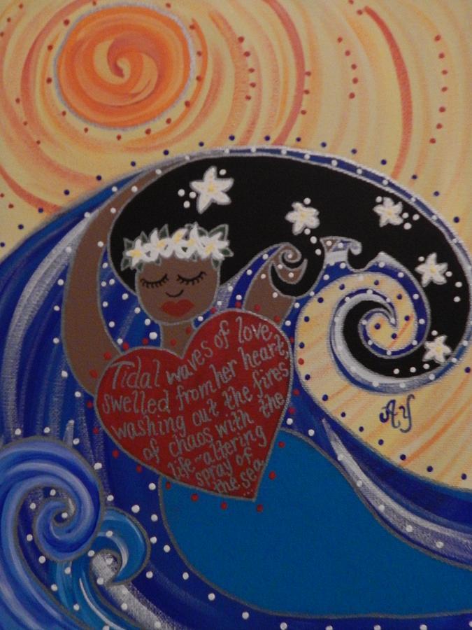 Holy Painting - NaMaka by Angela Yarber