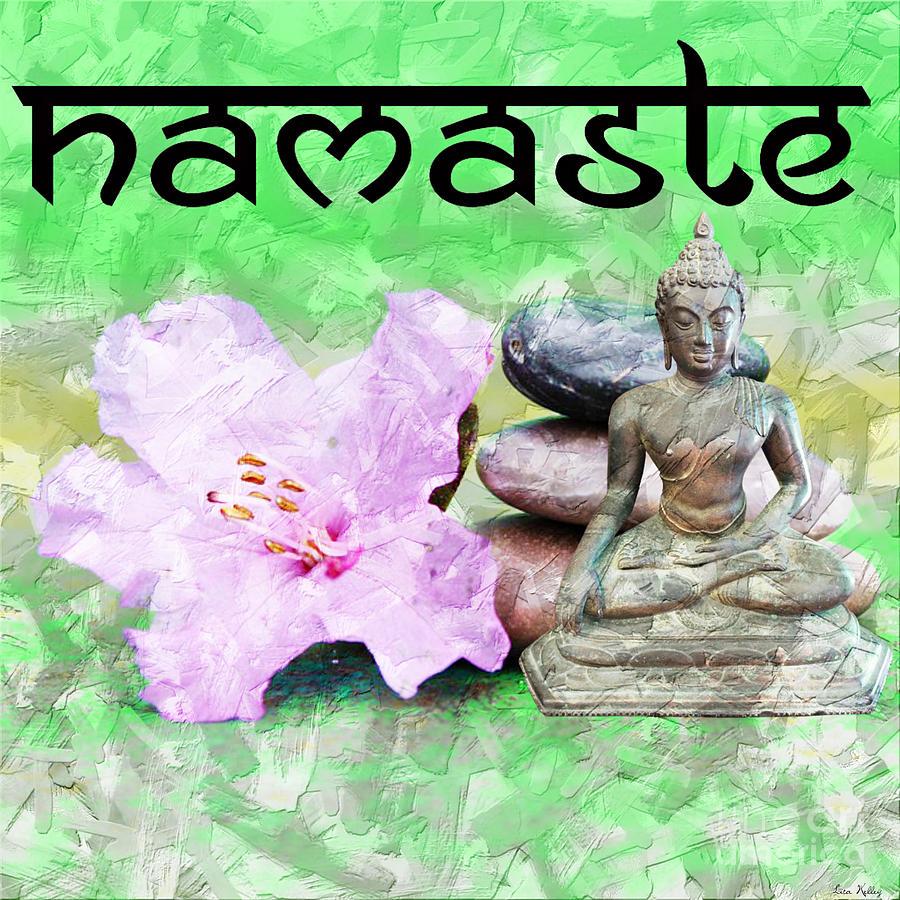 Namaste Buddha. v2 by Lita Kelley
