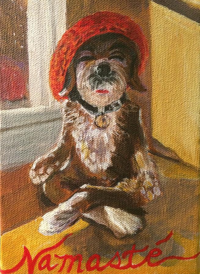 Namaste Dog by Chrissey Dittus