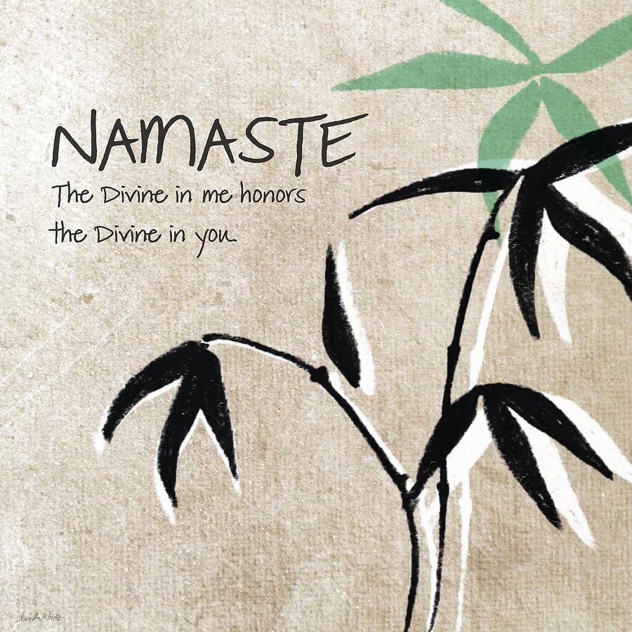 Namaste Painting - Namaste by Linda Woods