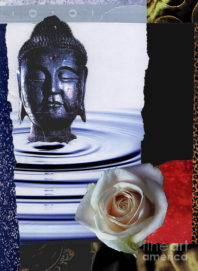 Buddha Mixed Media - Namaste by Pederbeck Arte Gruppe