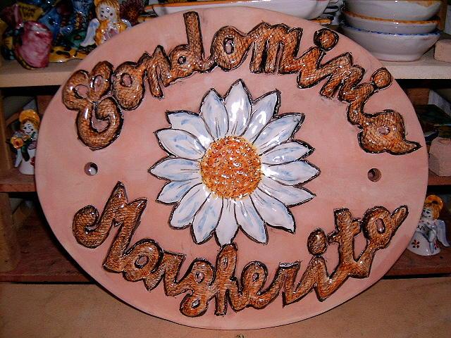 Nameplate Ceramic Art by Maria Rosaria Dalessandro