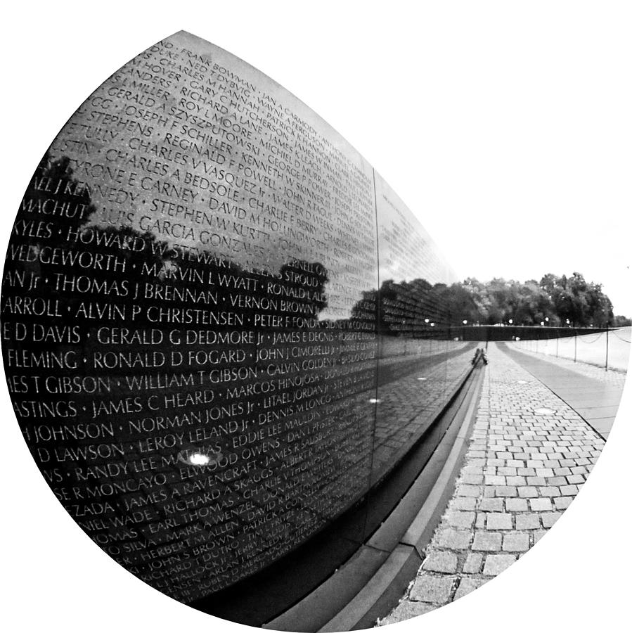 Vietnam Memorial Photograph - Names by Mitch Cat