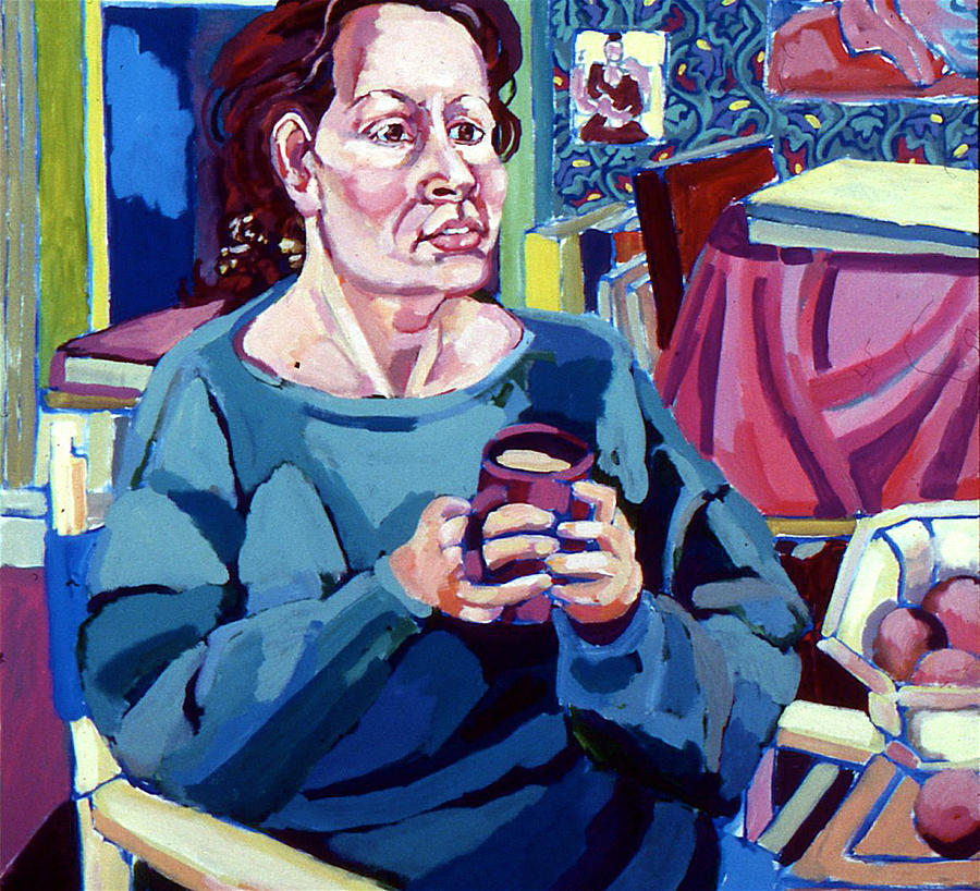 Portrait Painting - Nan With Coffee by Doris  Lane Grey
