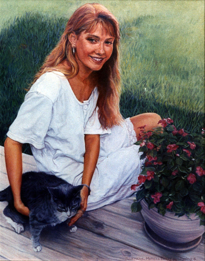 Portrait Painting - Nancy And Tiffany by Suzanne Berry